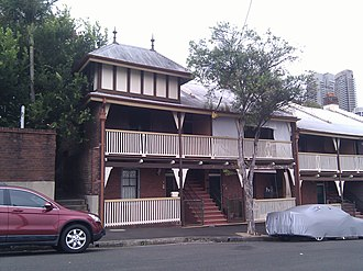 2-36 High Street, Millers Point - 2-8 High Street terraces, pictured in 2012.