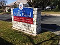 Mills pond entrance sign ~ Wells Branch, Texas.jpg