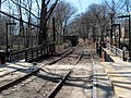 Mini-high ramps at Longwood station, March 2016.JPG