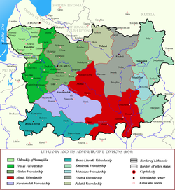 Minsk Voivodeship within Lithuania in the 17th century.png