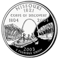 Missouri quarter, reverse side, 2003.png