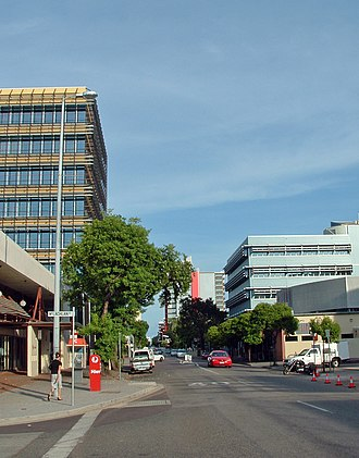 2010 Darwin shopping mall bombing - Mitchell St, Darwin, close to where the explosion took place.
