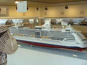 MS Radiance of the Seas - A model of the Radiance of the Seas as built.