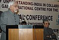 "Mohd. Hamid Ansari addressing at the inauguration of a National Conference on the Theme ""The Interfaith Movement – Where Do We Go From Here"", organised by Indira Gandhi National Centre for the Arts (IGNCA), in New Delhi.jpg"