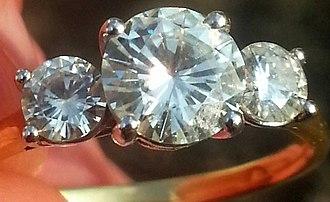Moissanite - A moissanite engagement ring