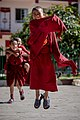 Monks playing inside a monastery at Kathmandu, Nepal.jpg