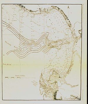 """Mapping California - Image: Monterey Bay Canyon map """"Submerged Valley"""""""