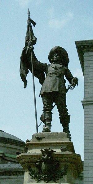 Paul de Chomedey, Sieur de Maisonneuve - Image: Monument Maisonneuve