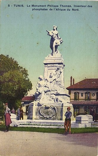 Philippe Thomas - Monument in Thomas's memory in Tunis, since dismantled.