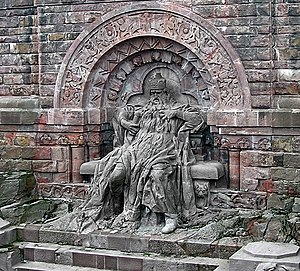Kyffhäuser Monument - Depiction of Frederick Barbarossa
