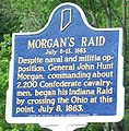 Morgan's raid marker at Morvin's Landing near Mauckport Indiana in July 2009.JPG