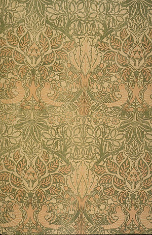 Double cloth - Image: Morris Dove and Rose textile 1879