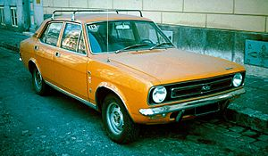"Morris Marina - 1971 Morris Marina 1.8 TC 4-door saloon. The 1.8 TC was marketed as the sporting version. The high visibility ""safety colour"" of this example was fashionable in the 1970s."