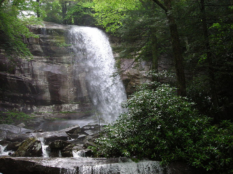 File Mount Le Conte S Rainbow Falls Jpg Wikimedia Commons