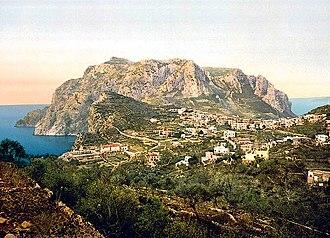 Monte Solaro - Image: Mount Solaro Capri Island of Italy