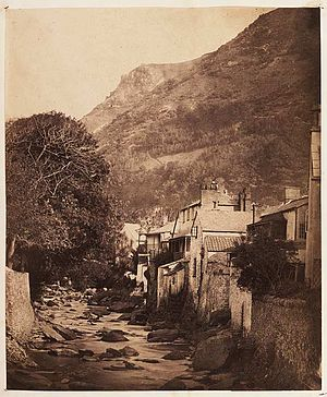 Lynmouth - Taken in the 1850s this is probably the first ever photograph of Lynmouth