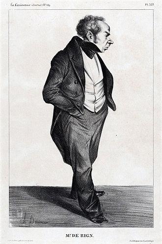 Henri de Rigny - Caricature by Honoré Daumier, 1833.