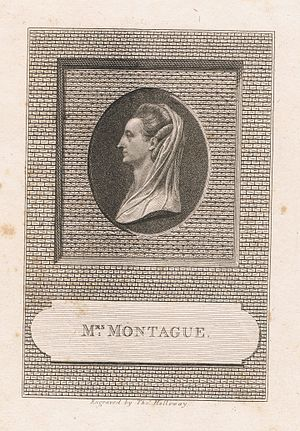 Thomas Holloway (painter) - Mrs. Elizabeth Montagu, engraved by Thomas Holloway, published by John Sewell (died 1802), 32 Cornhill, London, 1785.