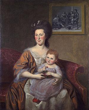 Thomas McKean - Sarah Armitage McKean with their daughter Maria Louisa (Charles Willson Peale, 1787)