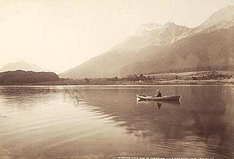 Mount Earnslaw - Diamond Lake and Mount Earnslaw, Lake Wakatipu, by James Valentine