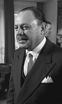 A black and white portrait of Ayub Khan