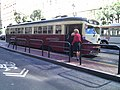 Muni 1007 at Market and 2nd, August 2011.jpg