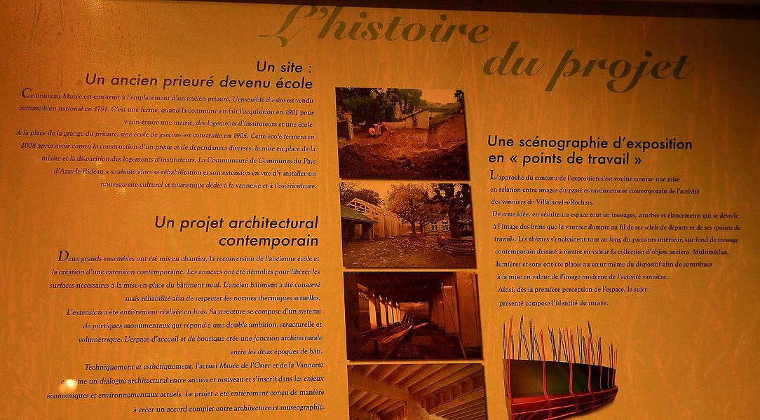 Museum of basketry in Villaines-les-Rochers: architecture and design.