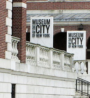 Museum of the City of New York - Signs at the museum's entrance