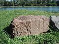 Myriameterstein 9 linksrheinisch Rhinau Bergseite.JPG