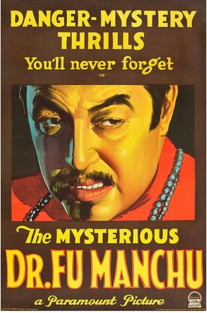 The Mysterious Dr. Fu Manchu - The original film poster