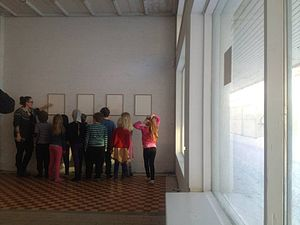 The Living Art Museum - School visits to the Nýló gallery.
