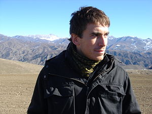 Places That Don't Exist - Nagorno-Karabakh: Simon Reeve in mountains on the border between Armenia and the unrecognised state of Nagorno-Karabakh - still the focus of ongoing tension and conflict between Armenia and Azerbaijan.