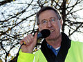 NASUWT officer speaking at Bristol public sector pensions rally in November 2011.jpg