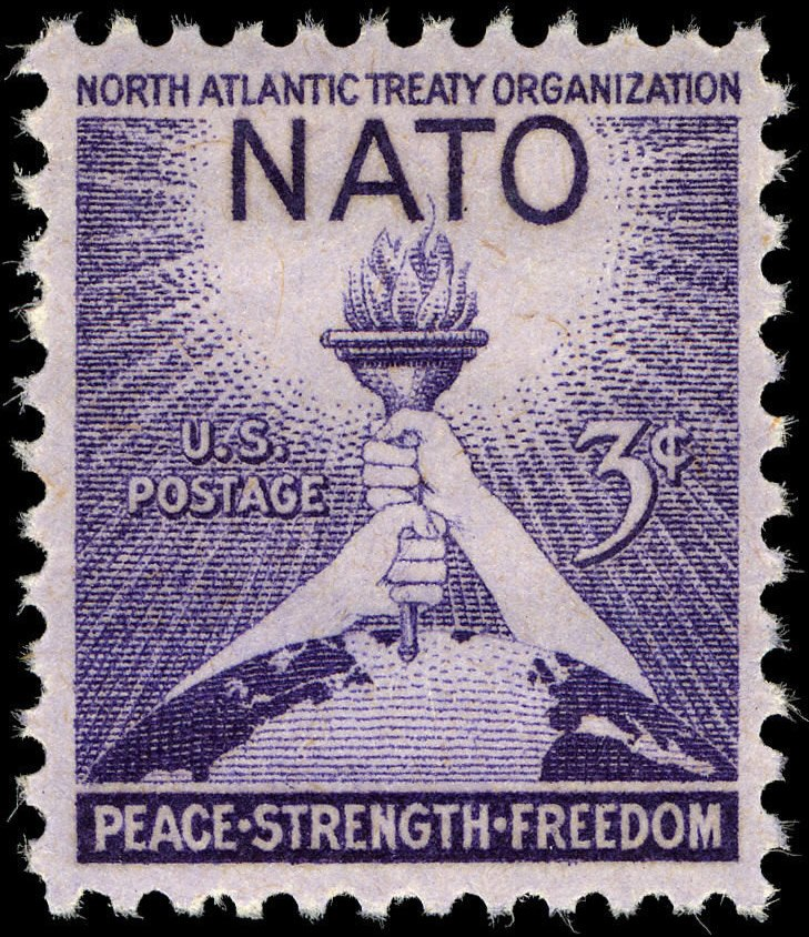 NATO 3c 1952 issue U.S. stamp