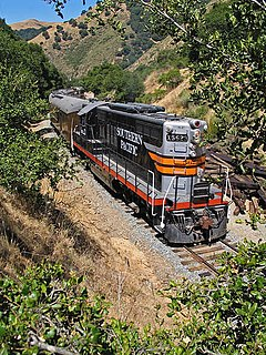 Southern Pacific 5623 preserved EMD GP9 locomotive