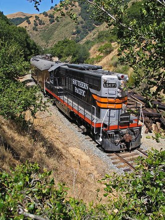 Niles Canyon Railway - A passenger train on the Niles Canyon Railway.