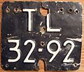 NETHERLANDS, 1970's -MOTORCYCLE LICENSE PLATE, WELL USED - Flickr - woody1778a.jpg