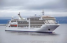 "Front view of cruise ship ""Silver Spirit"""