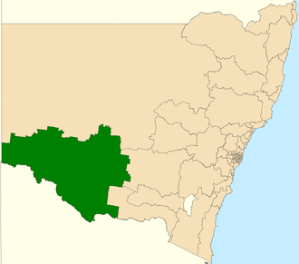 Electoral district of Murray - Location in New South Wales