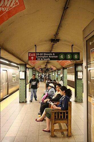 Lexington Avenue/59th Street (New York City Subway) - Platform view
