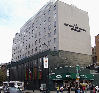 New York Eye and Ear Infirmary - New York Eye and Ear Infirmary North Building, opened in 1968