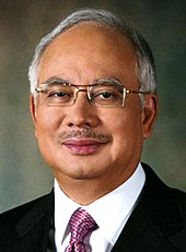 An official photo of former prime minister Najib Tun Razak.