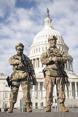 National Guardsmen near the Capitol (2021)