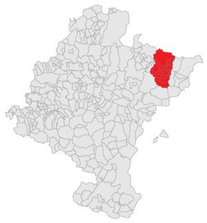 Salazar Valley - Image: Navarra Mapa Valle Salazar