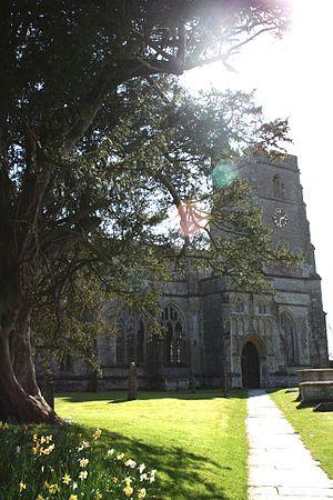 Church of St Michael, North Cadbury - Image: Ncadburychurch