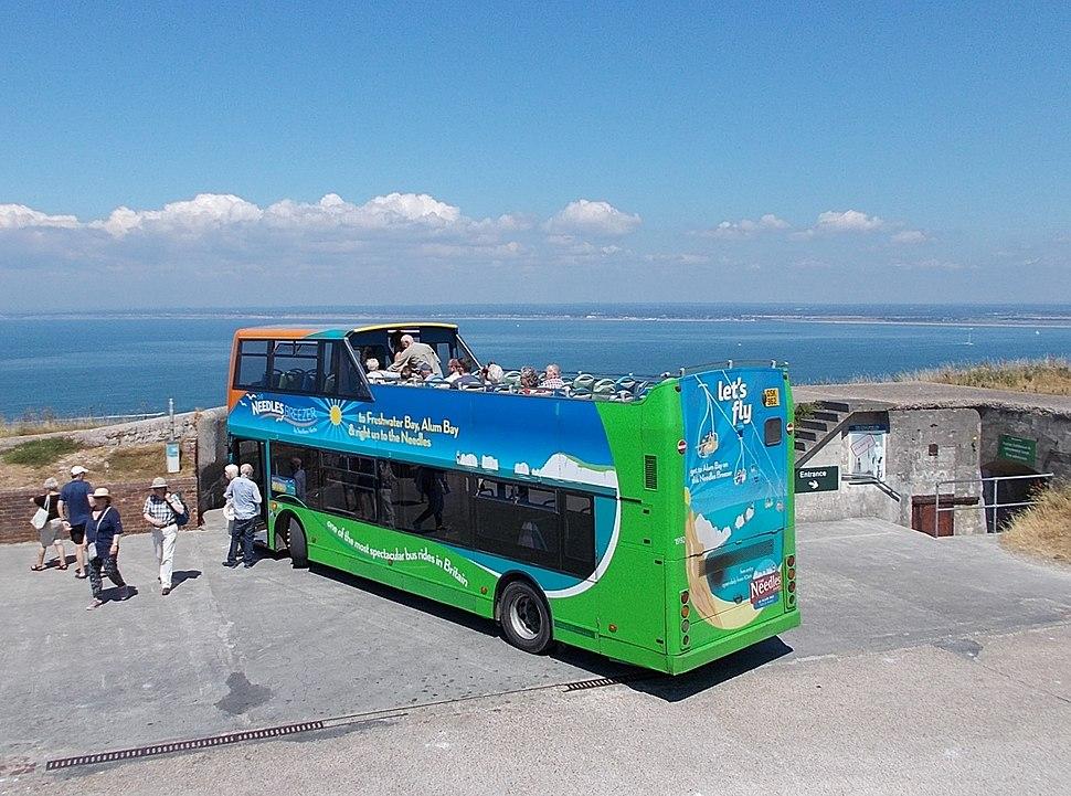 Needles Breezer bus, Isle of Wight, UK
