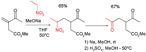 Nef reaction - Nef reaction in combination with Michael addition