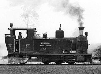 Nepal Railways - A Nepal Railway locomotive in 1927 during the reign of Rana PM Chandra SJBR