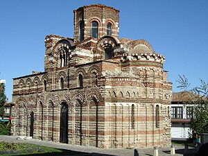 Architecture of the Tarnovo Artistic School - Church of Christ Pantocrator in Nessebar