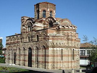 Architecture of the Tarnovo Artistic School - Church of Christ Pantocrator in Nessebar
